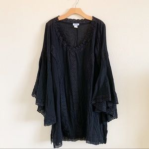 PIA Black Lace Cover Up